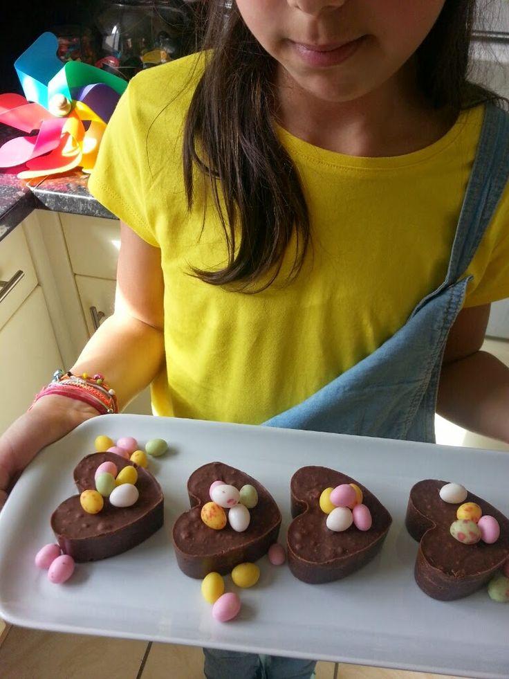 Recette des coeurs en chocolat