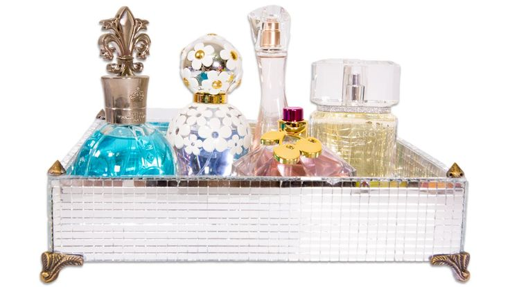 Artesanato Como Fazer Bandeja Espelhada para Perfumes