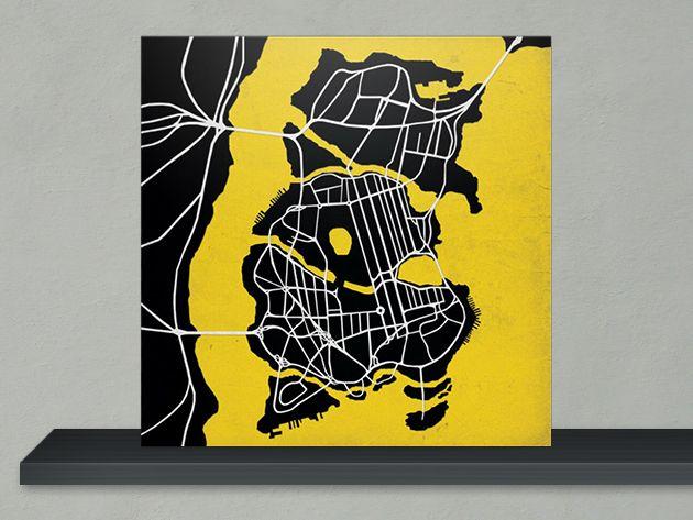 The Batman Gotham City Map Art Print