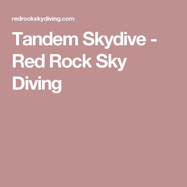 Tandem Skydive - Red Rock Sky Diving