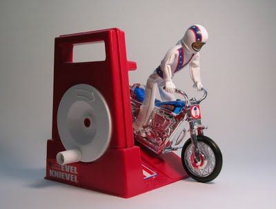 Evel Knievel-  I think my brother had this... don't let the back wheel get near your hair...