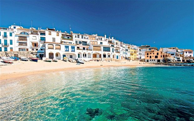 """Calella is the chichi resort on this stretch, and its tangle of streets is animated even out of season"" Photo: ALAMY"