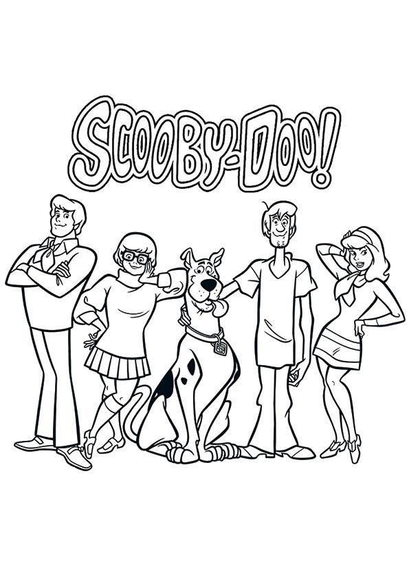 top 20 scooby doo coloring pages for your little ones - Scooby Doo Colouring Pictures To Print