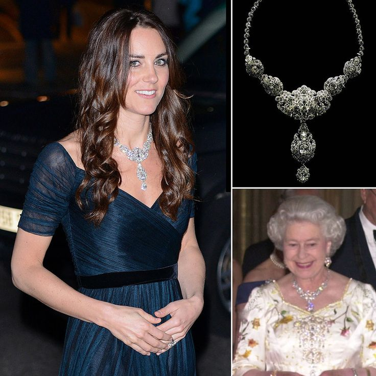 Enter the Nizam of Hyderabad necklace, which Kate wore during a visit to the National Portrait Gallery (where she serves as a patron) in February. The necklace was given to the queen by (who else?) the Nizam of Hyderabad, as a wedding present. He told the queen to pick out anything that she wanted from ...