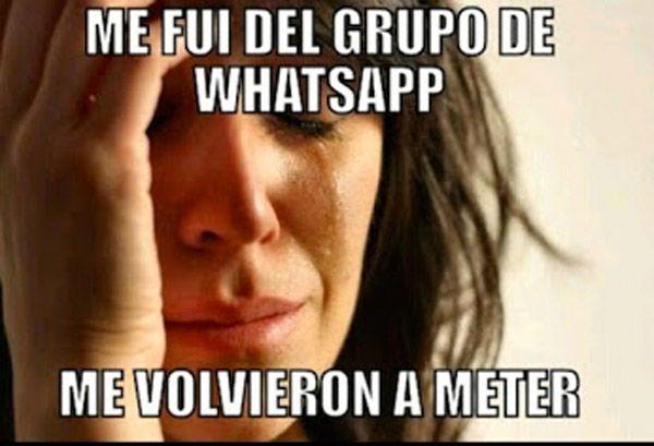 Me fui del grupo de WhatsApp