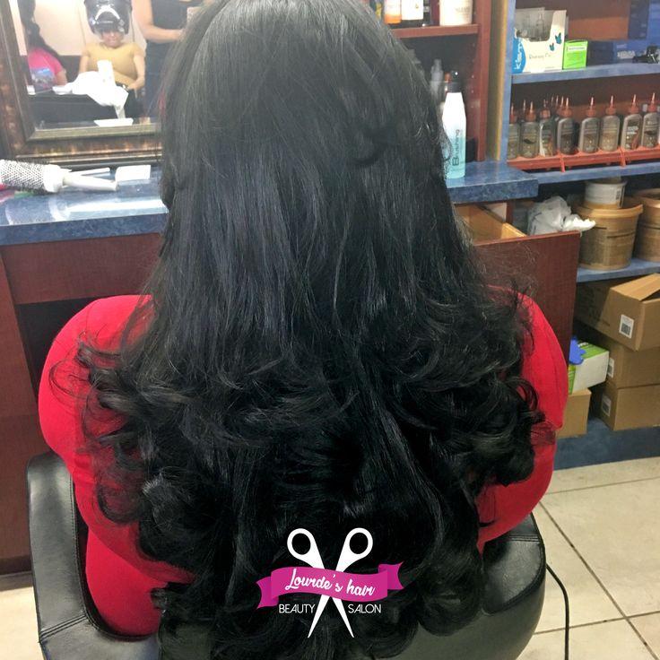 Te dejamos como nueva para las fiesta de fin de año  #lourdeshairbeutysalon #westchestercounty  #hair #style #lovemyjob