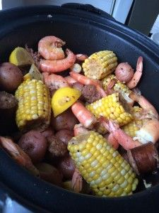 Shrimp Boil in the Crock Pot! Who says you can't have party food on a Monday?  A shrimp boil doesn't have to be time consuming.  Let your slow cooker do the work for you.