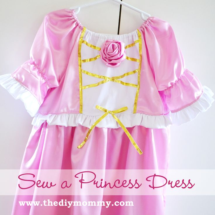 "Princess Dress Tutorial... I've been wanting to find one of these since I saw the ""one pattern, every princess"" pin"