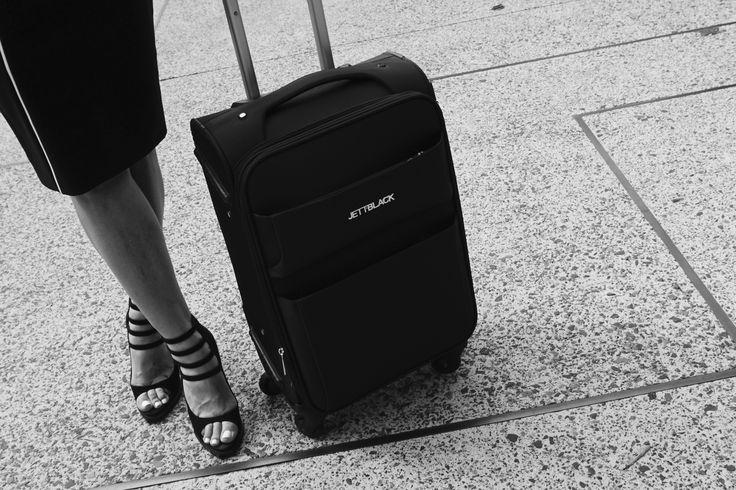 Raven Black carry on suitcase by Jett Black. #BlackAndWhite #Jetsetter