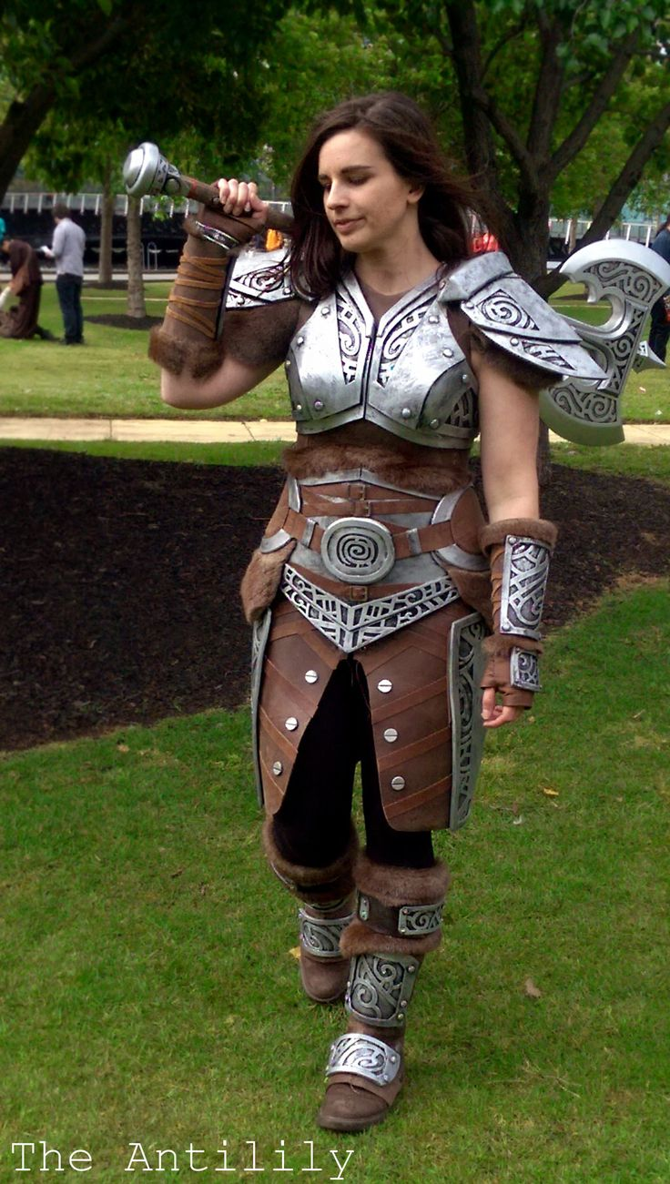 Skyrim Steel Armour TheAnti-Lily female armor costume cosplay LARP | NOT OUR ART - Please click artwork for source | WRITING INSPIRATION for Dungeons and Dragons DND Pathfinder PFRPG Warhammer 40k Star Wars Shadowrun Call of Cthulhu and other d20 roleplaying fantasy science fiction scifi horror location equipment monster character game design | Create your own RPG Books w/ www.rpgbard.com
