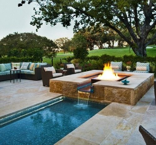 Fire Pit | fire pit and out door kitchen | Pinterest