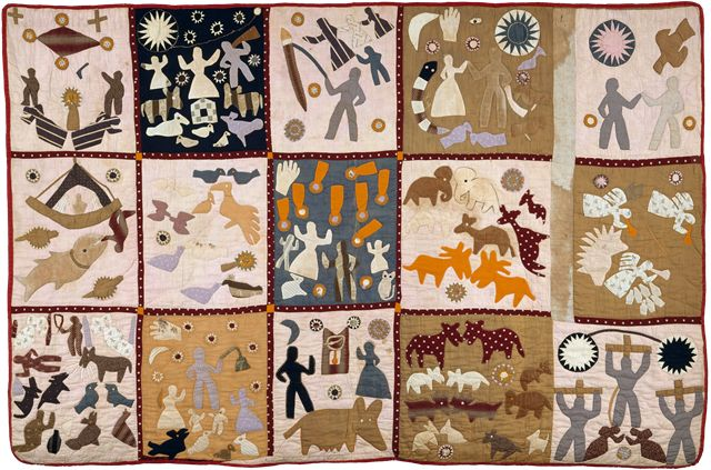Harriet Powers – Pictorial Quilt 1898  Harriet Powers (October 29, 1837 – January 1, 1910) was an African-American slave, folk artist and quilt maker from rural Georgia. She used traditional appliqué techniques to record local legends, Bible stories, and astronomical events on her quilts.