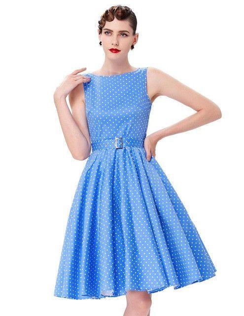 Belle Poque Womens Vintage Plaid Party Dresses 2017 50s 60s Robe Femme Pin Up Retro Summer Plus Size Women Rockabilly Clothing