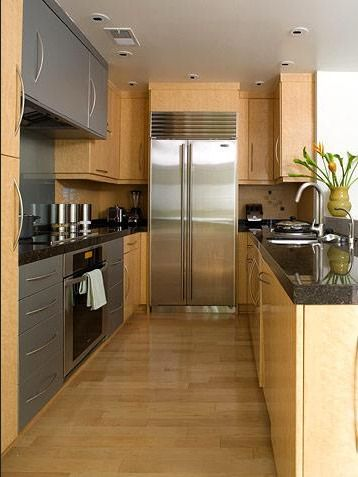 Fridge in the back. galley kitchen designs pictures small galley kitchen designs –