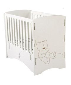 View details of Kidsaw Teddy Bear Cot - White