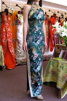 Turquoise Chinese dress