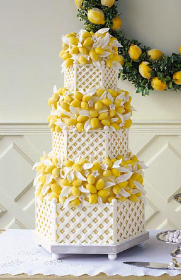 Yellow Wedding Cakes Pinterest