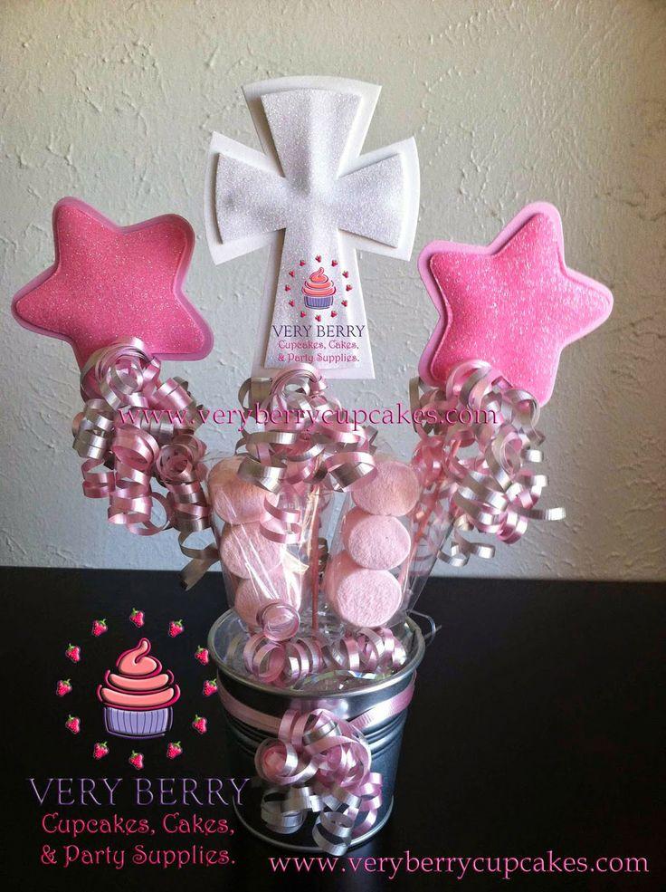 Veryberry cupcakes eva foam baptism centerpieces baptism centerpieces pinterest baptism - Baptism centerpieces girl ...