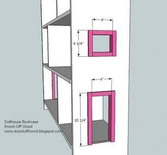 Kid Dollhouse Book Case Build Plans