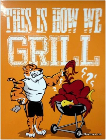 THIS IS HOW WE GRILL!! Tiger pride!! Like my facebook page for exercise tips, support, and recipes. https://www.facebook.com/letsbefit43/?ref=aymt_homepage_panel