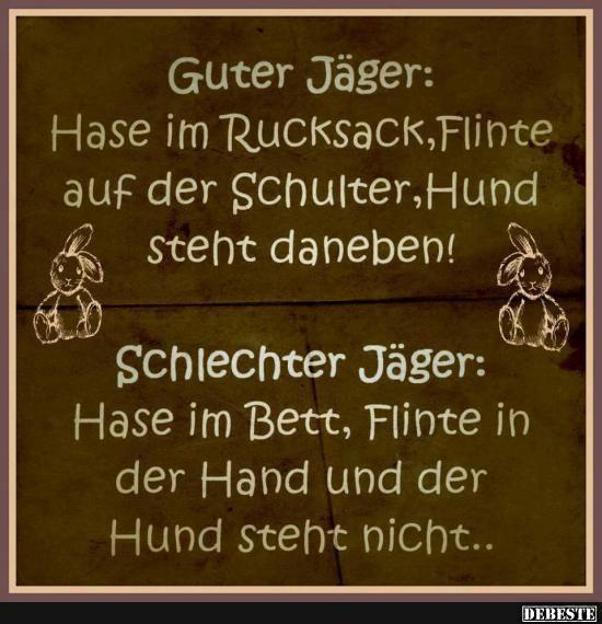 Guter Jäger / Schlechter Jäger | DEBESTE.de, Lustige Bilder, Sprüche, Witze und Videos