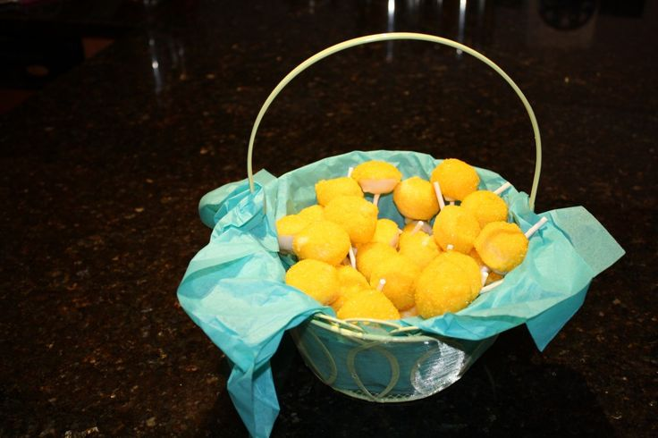 Lemon cake pops! Delicious and cute!