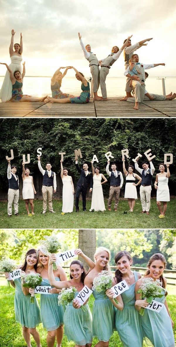 50 Must-See Creative Wedding Day Group Photos!