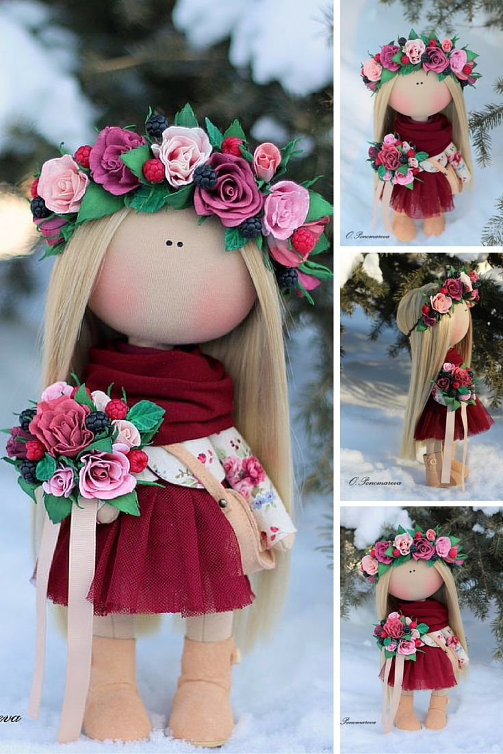 Love doll handmade, fabric doll, textile doll, rag doll, baby doll, soft doll