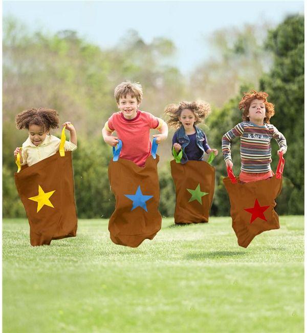 Hop Sacks, Set of 4 | Potato Sacks Toy | Magic Cabin