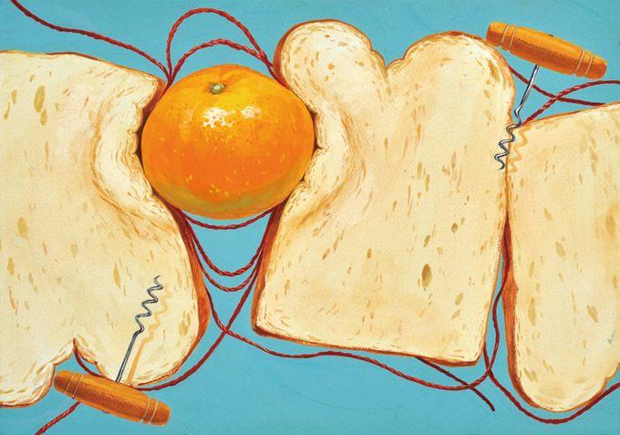#귤 #식빵