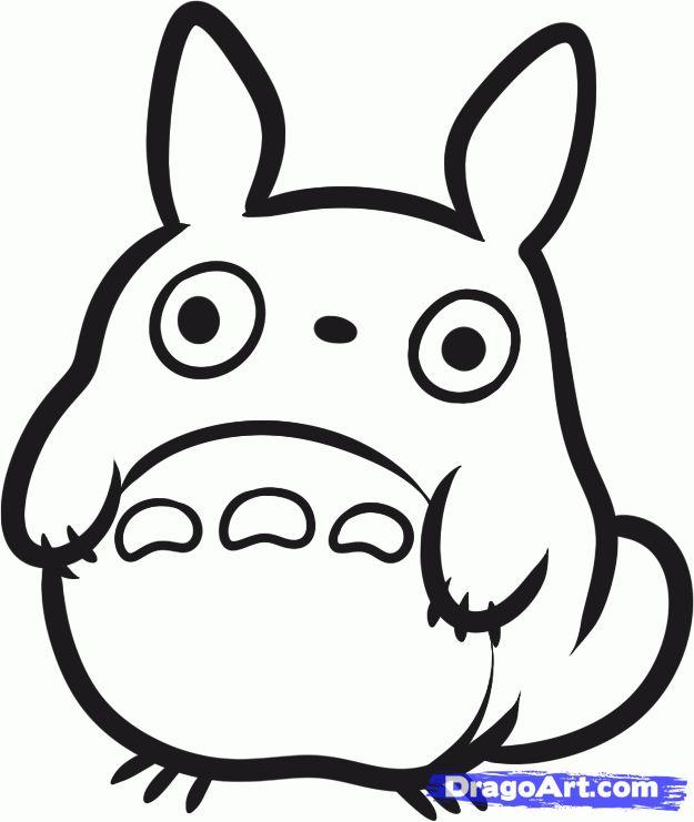 how to draw chibi totoro my neighbor