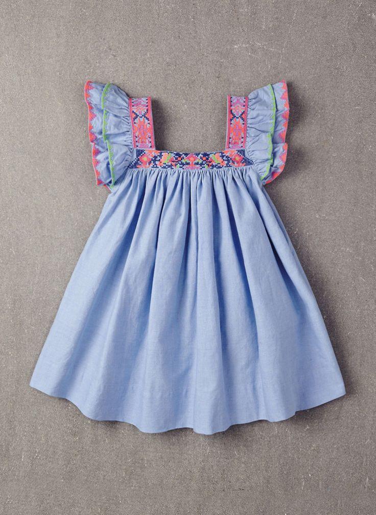 Nellystella Chloe Dress in Chambray - PRE-ORDER