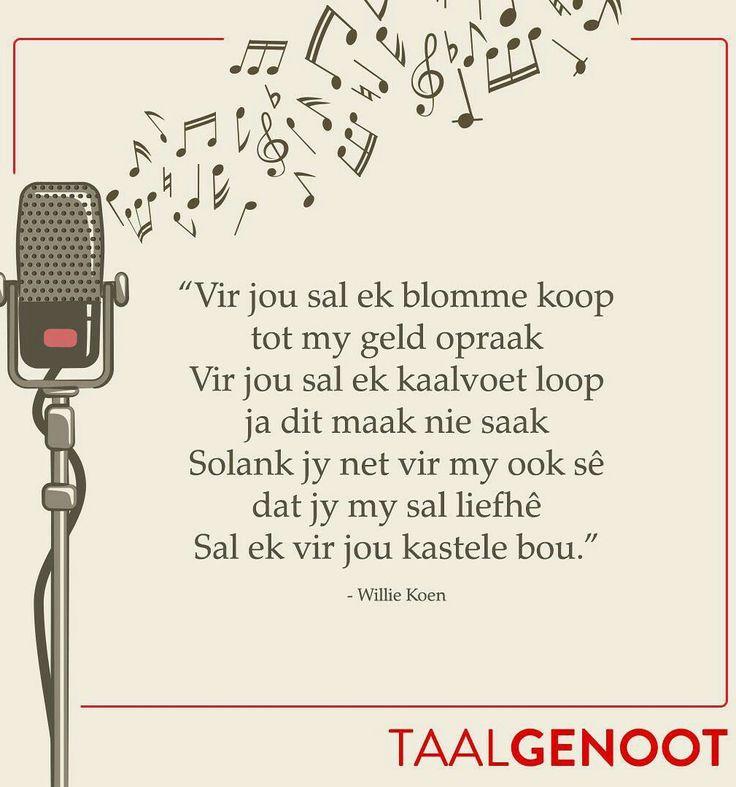 Vir jou sal ek blomme koop...deur Willie Koen #Afrikaans Poësie #Taalgenoot #mooiwoorde ♡ Quotes #lovequotes