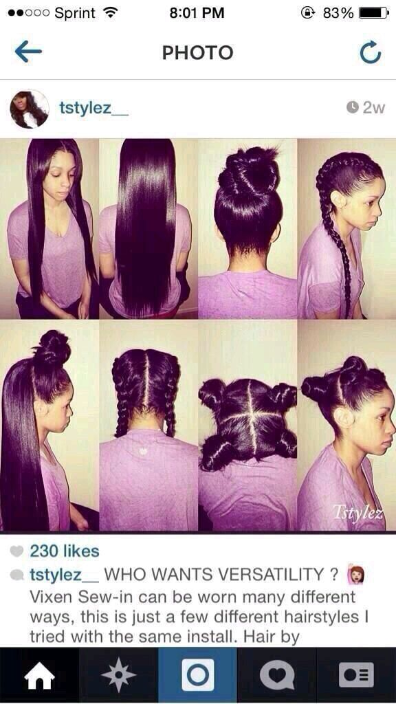 Versatility of a Vixen Sew-in - http://community.blackhairinformation.com/hairstyle-gallery/weaves-extensions/versatility-of-a-vixen-sew-in/
