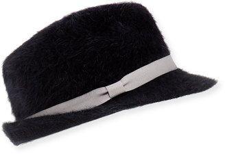 eb0540aaea4 Hat Attack Angora Rabbit Fur Fedora  hat  womens