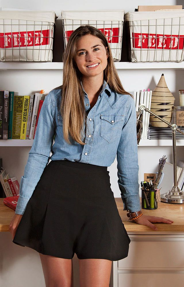 Lauren Bush Lauren at the FEED offices in New York.