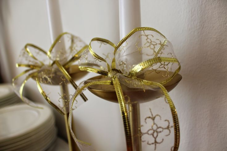 Xmas 2014 at Chiara's  golden chandeliers: IKEA