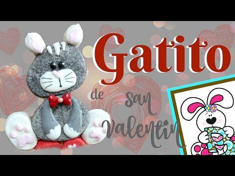 Como hacer un Gatito de bombón para San Valentin - Bomgoletas - Marshmallow Cat - YouTube