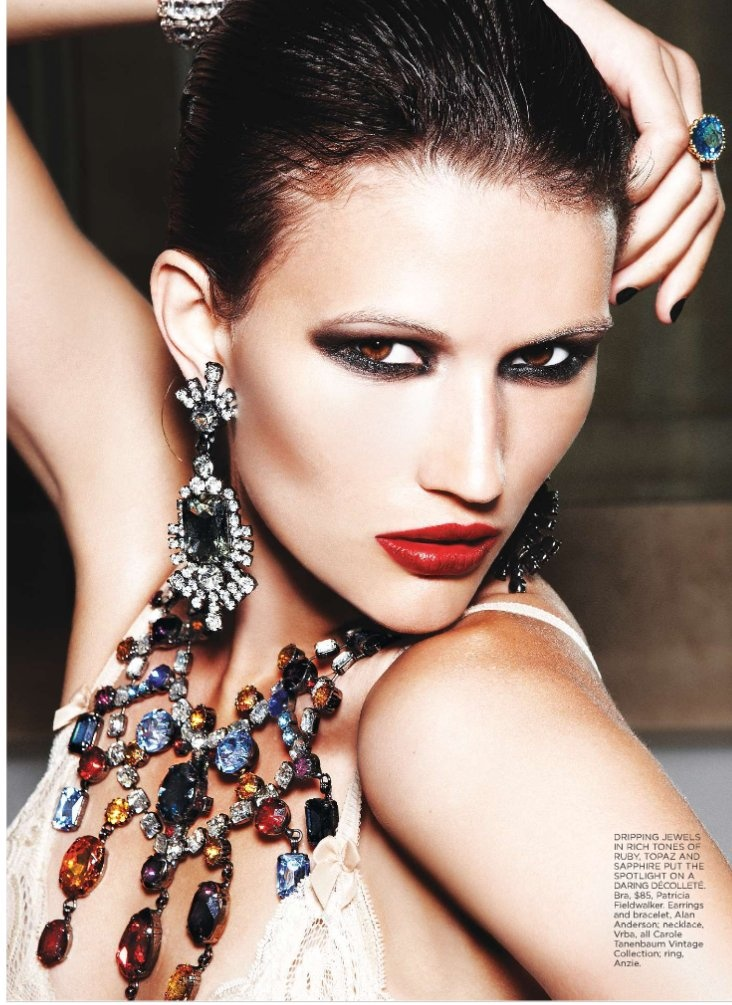 """Tara Gill photographed by Max Abadian in """"All That Glitters"""" for Flare, February 2010 3"""