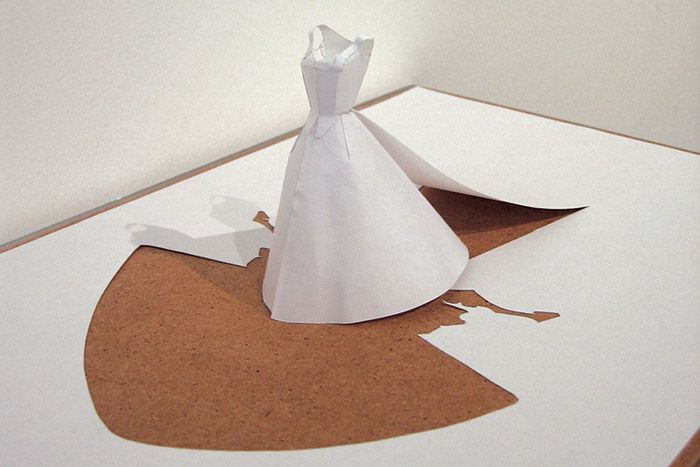 Wedding dress without bride peter callesen 2005 acid for Acid free cardboard box for wedding dress