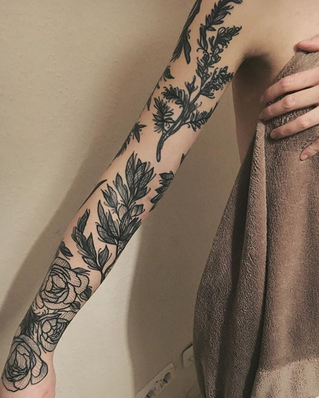 fresh out of the shower. the day after you got yourself a full sleeve tattoo. Anna Enola