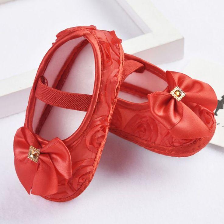 Barato Bebé Sapatos Primeiros Caminhantes Todder Sapatos Prewalker Flores Rosa…