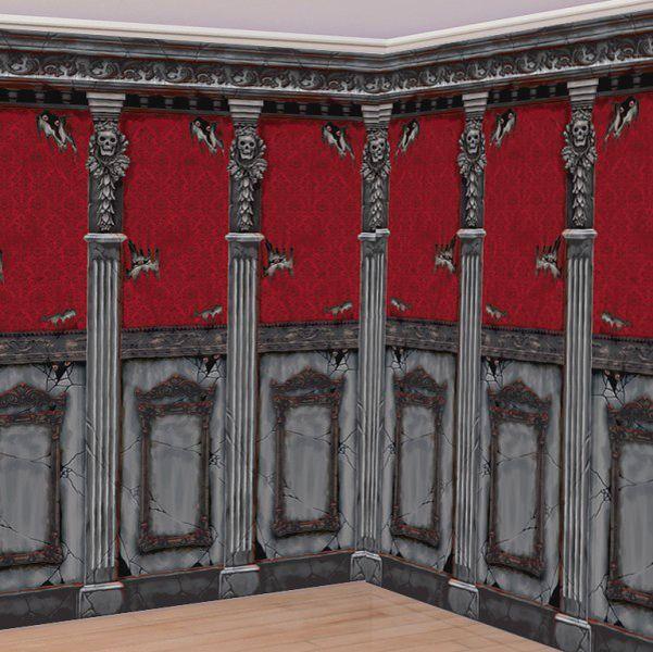 halloween scene setters gothic mansion room rolls 12m 1199 2pk