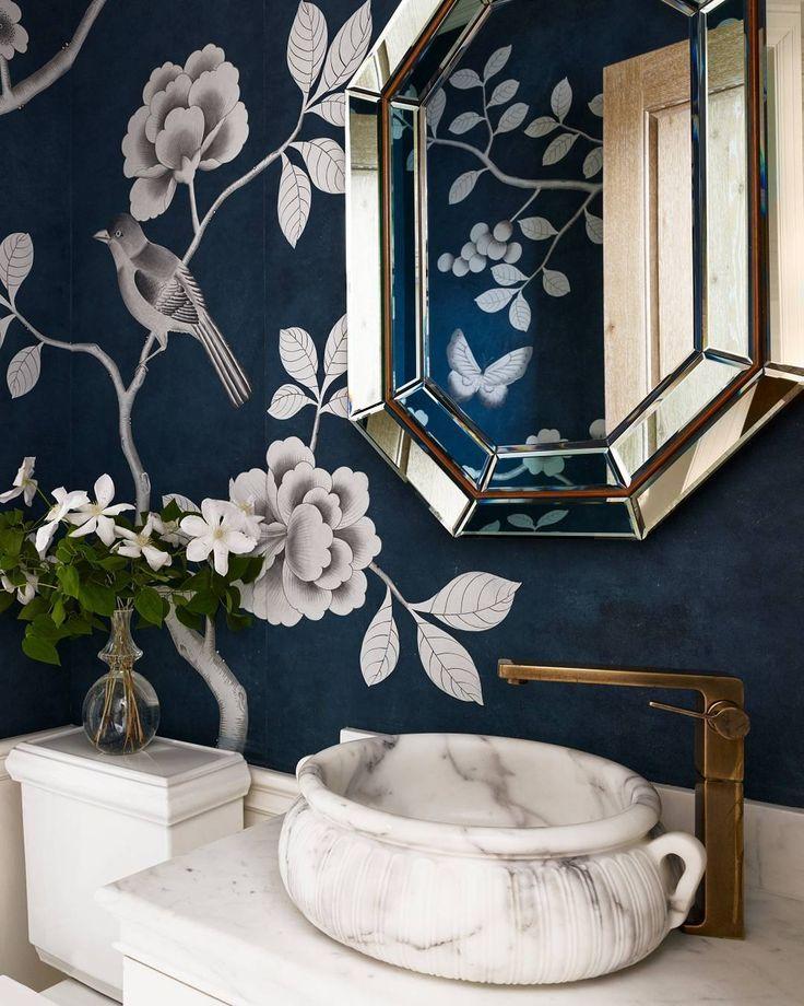 Bathroom Decorating Ideas. The prettiest powder room. | Photo: Bjorn Wallander, Interior Design: Alessandra Branca