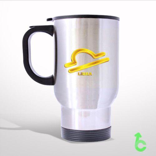 Zodiac Gold Libra Travel Mug
