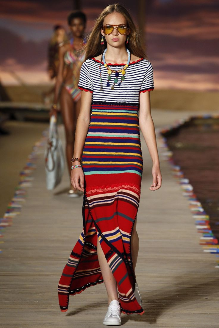 Tommy Hilfiger / Spring 2016 Trends / Horizontal or vertical, thick or thin, many-hued or monochromatic, stripes emerged from the fray of Spring prints as a clear victor on catwalks.