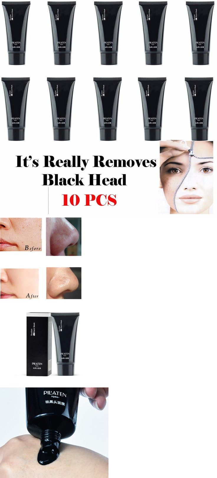 Masks and Peels: 10X Pilaten Blackhead Remover,Deep Cleansing Purifying Peel Acne Black Mud Face BUY IT NOW ONLY: $38.75 *** Get a free blackhead mask, link in bio! @beautycharcoal