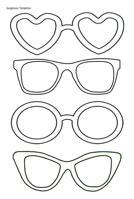 Sunglasses Templates