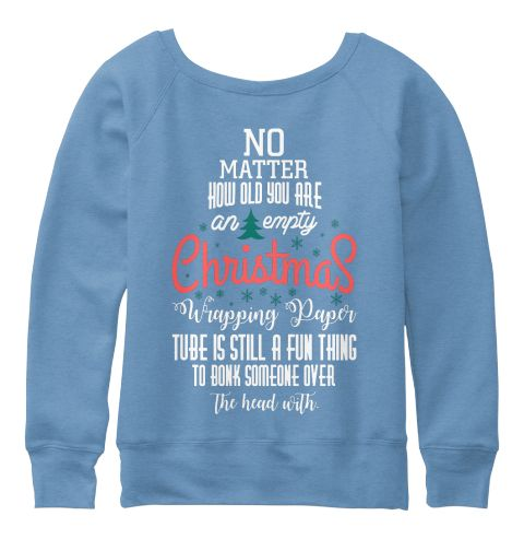 Christmas Fashioin Blue Triblend  T-Shirt Back
