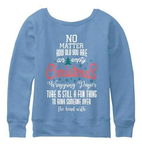 Christmas Fashioin Blue Triblend  T-Shirt Back